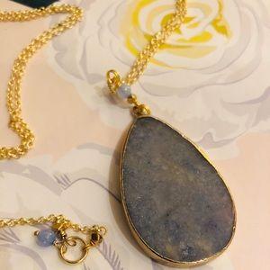 Nakamol Blue Stone Pendant Necklace